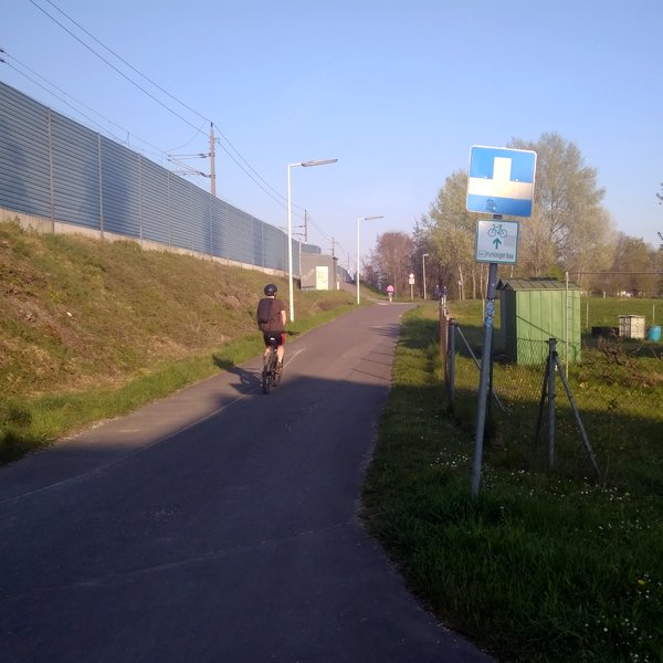 Radwegbeschilderung in Linz